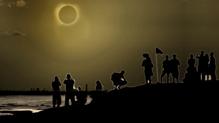 Ilustrasi gerhana matahari total